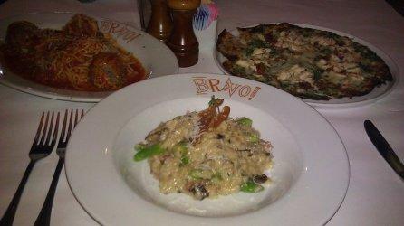 Mushroom & Proscuitto Risotto at Bravo Cucina
