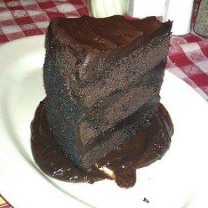 Buca di Beppo Double Dark Chocolate Cake