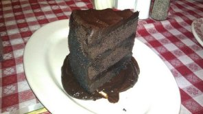 Buca di Beppo Double Dark Chocolate Cake