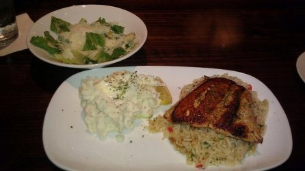 Salmon at Longhorn Steakhouse
