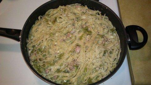 Pasta with Asparagus & Ham