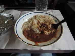 Rice & beans train food