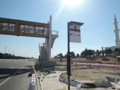 Abu Dhabi bus stop