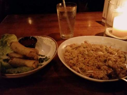 Chicken Fried Rice & Spring Rolls