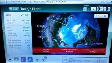 Emirates Airlines flight map
