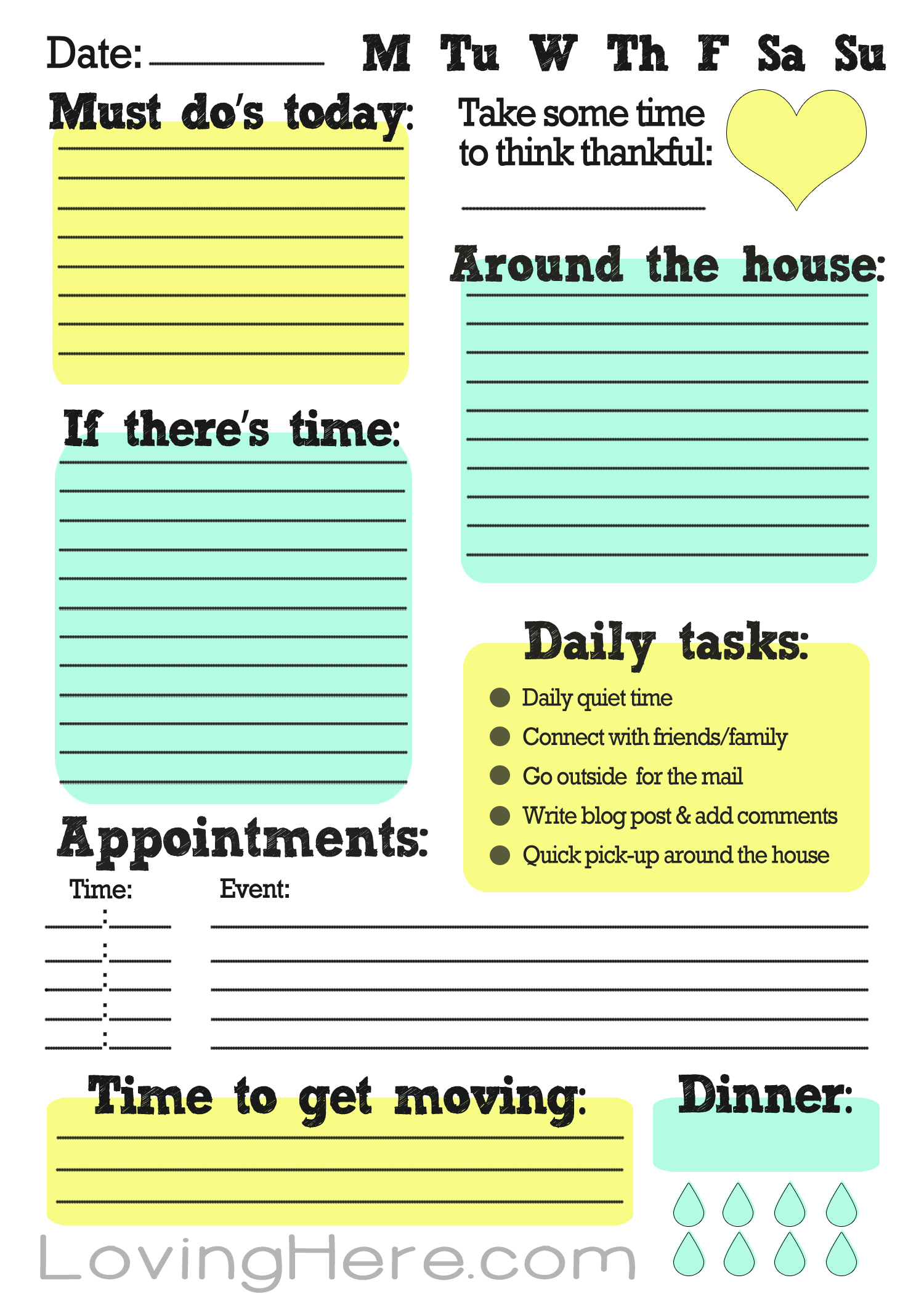 How I Stay Organized A Work From Home Free Printable