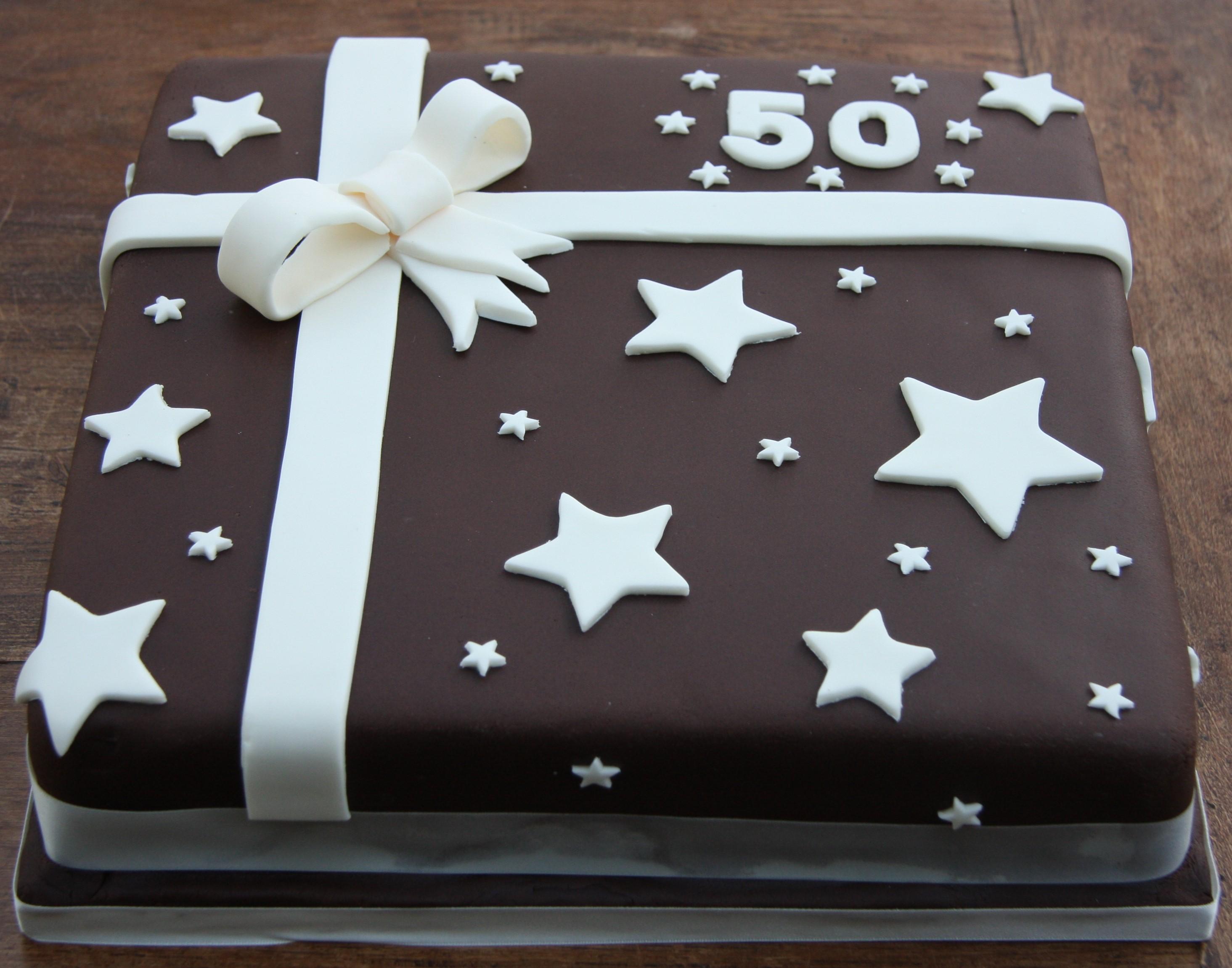 Birthday Present Cake 50th Lovinghomemade