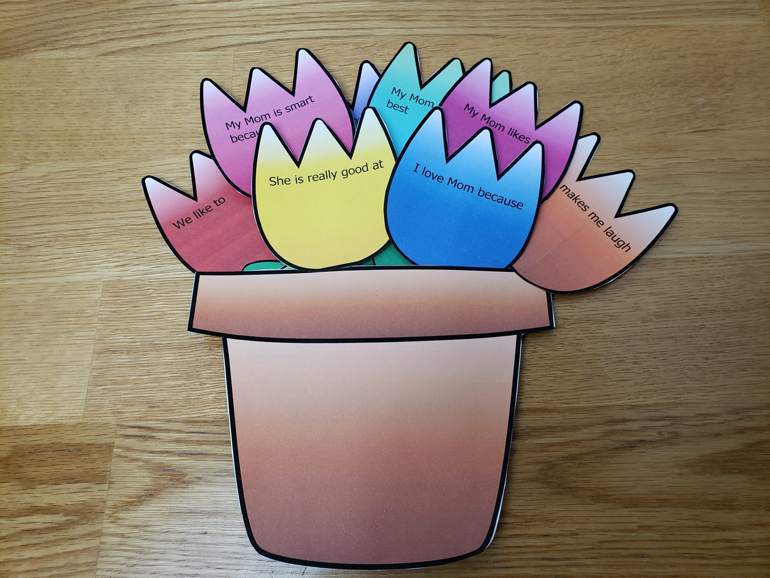 Free Mother's Day Flower Pot Craft