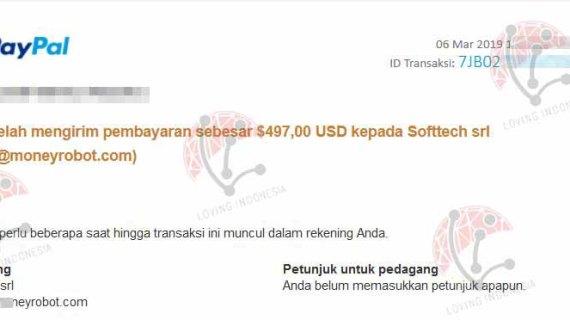 review testimoni Jasa Pembayaran Pembelian Lisensi Money Robot Submitter Terpercaya