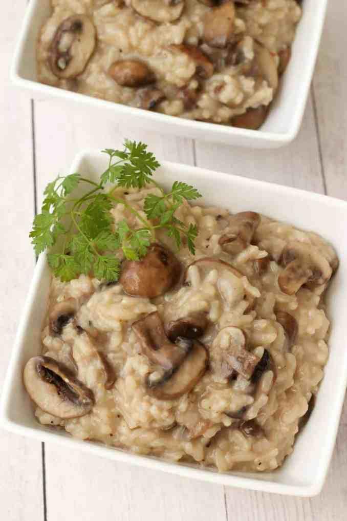 Creamy Vegan Mushroom Risotto - Loving It Vegan