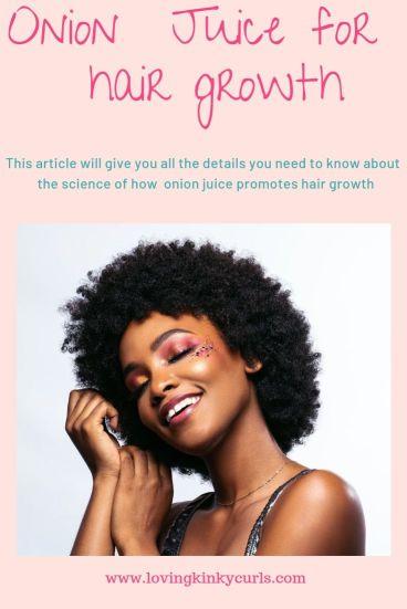 Onion Juice for 4c hair growth