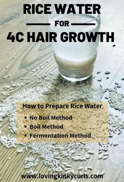 Rice Water For 4C Hair Growth