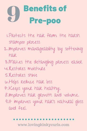 Benefits of Pre-poo in 4C hair