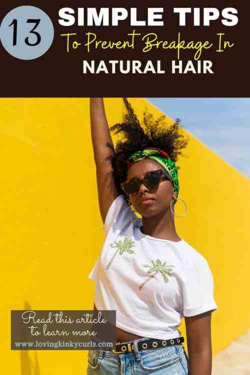 Natural 4C hair breakage