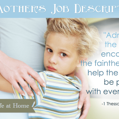 A Mother's Job Description