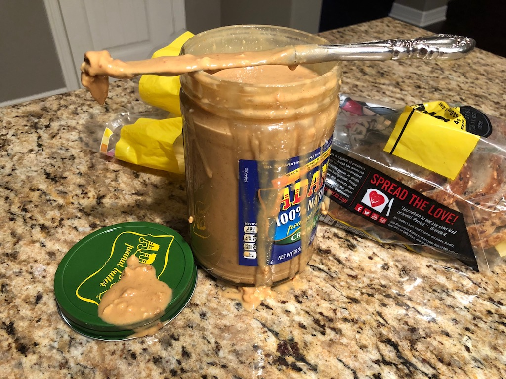 Sticky Peanut Butter Jar