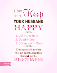 How to Keep Your Husband Happy - Pink