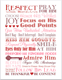 Respect Your Husband | free subway art printable from http://lovinglifeathome.com