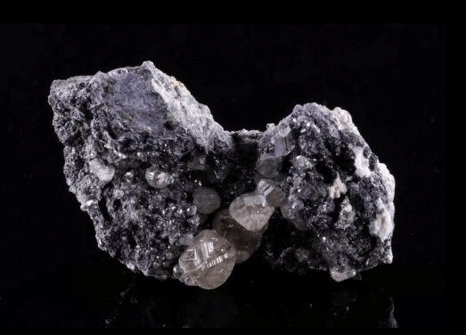 Cerussite Crystals on Matrix from Morocco by Thrown Stones