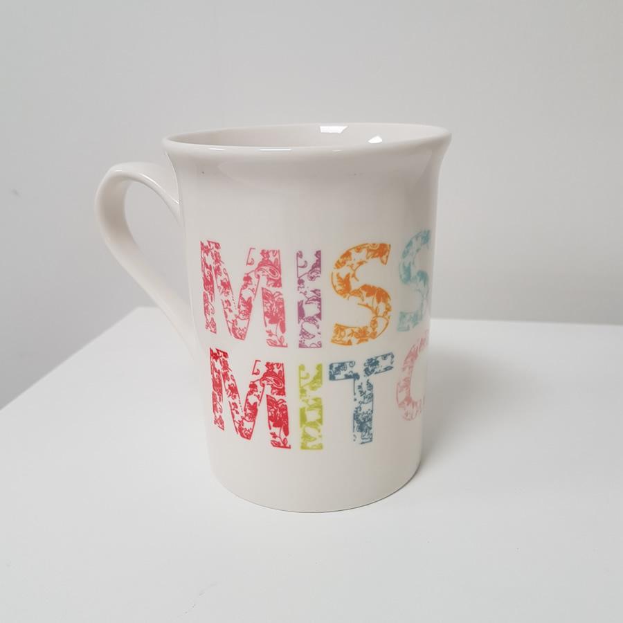 Floral bone china mug