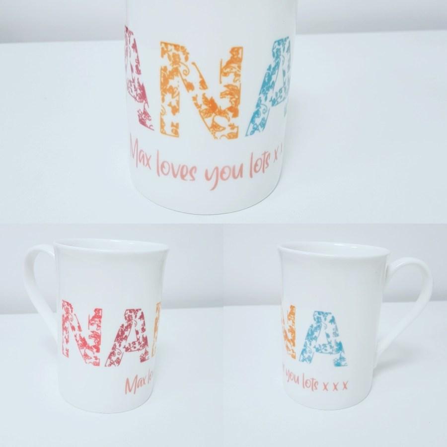 Personalised bone china mug