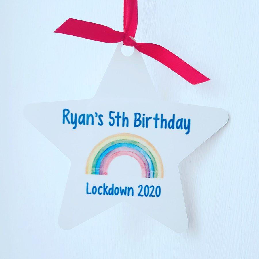 Personalised Birthday Star - Lockdown 2020