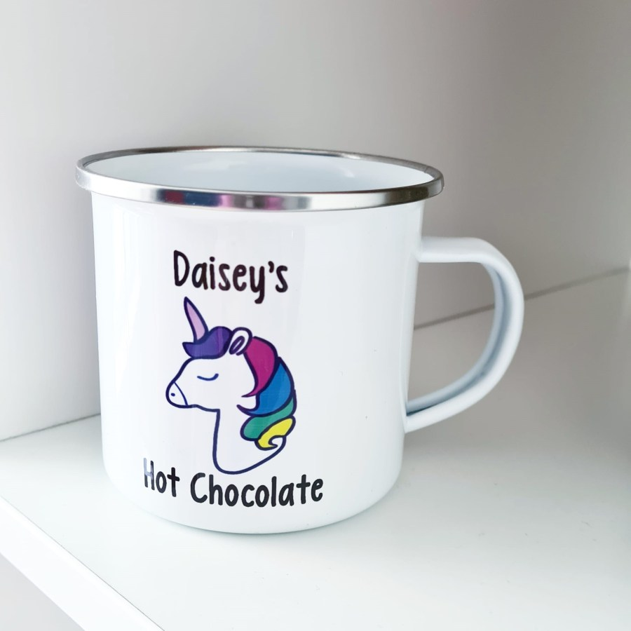 Personalised enamal mug for kids