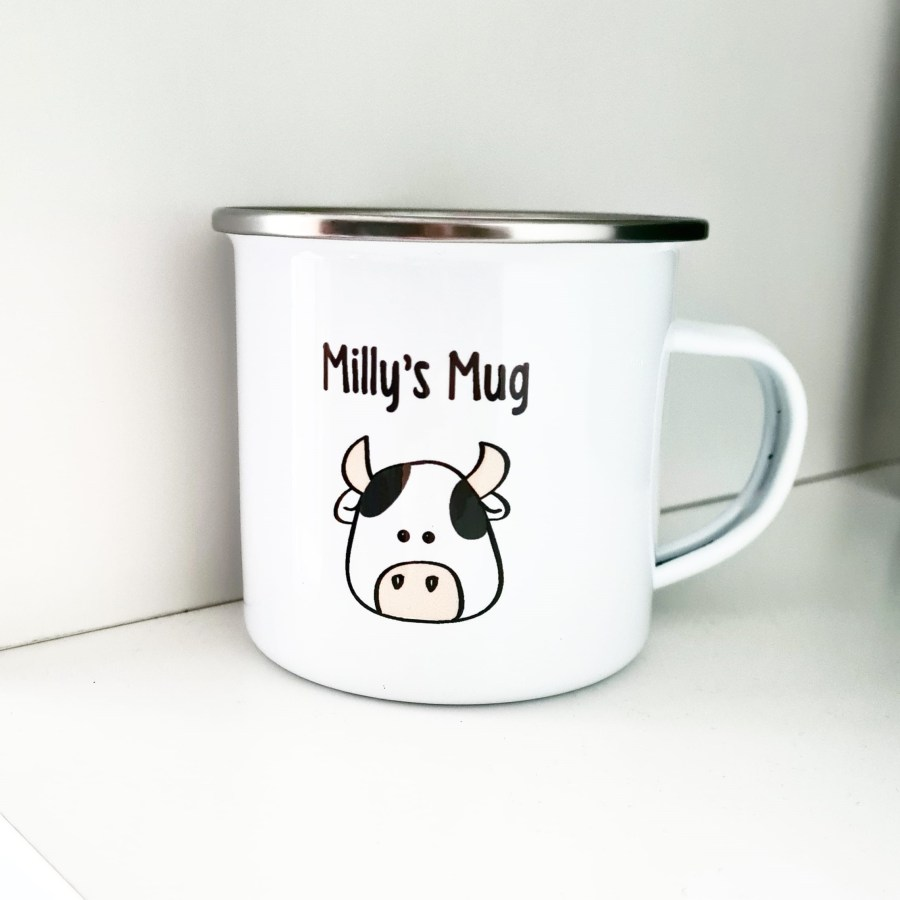 Enamel mug personalised