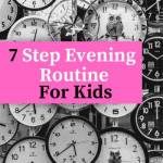 evening routine for children