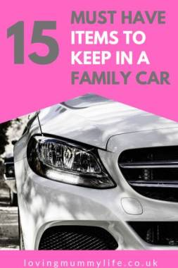 Essential items for the family car