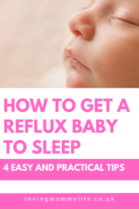 How to get a reflux baby to sleep