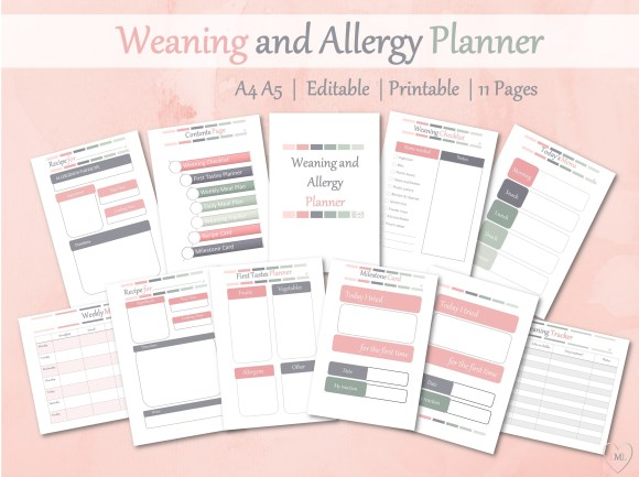 Weaning and Allergy Planner