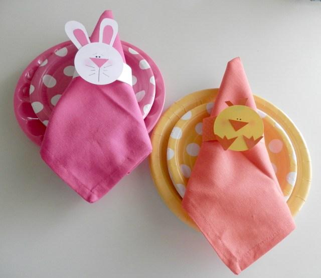Chicks and Bunny Napkin Rings