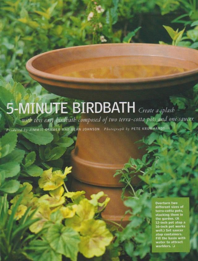 5-Minute Birdbath