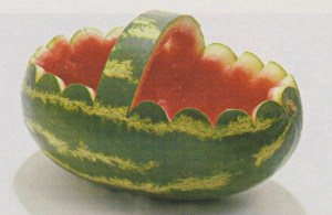 How to carve a watermelon basket.