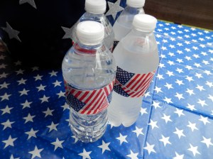 Duct tape added to beverage bottles for the 4th!