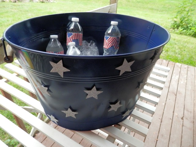 Completed beverage tub project for the 4th of July!  Awesome!