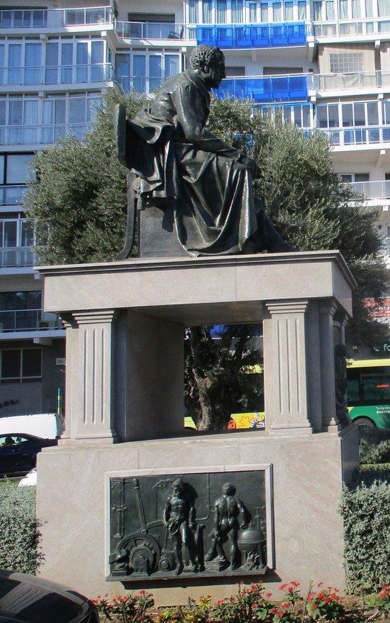 Manuel Agustin Heredia Monument in Malaga