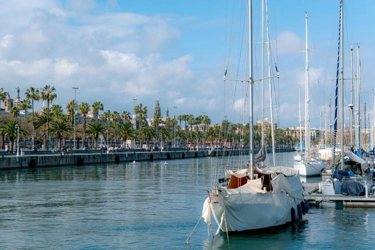 Barcelona boats