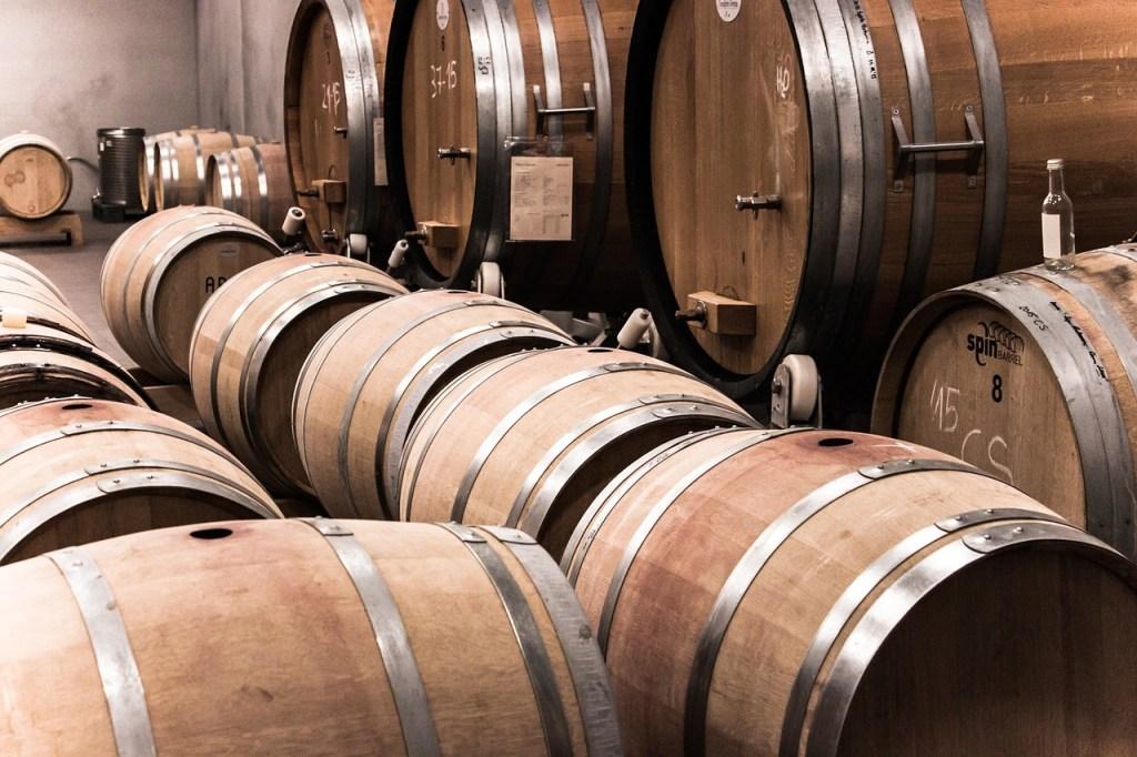 Murcia wine barrels