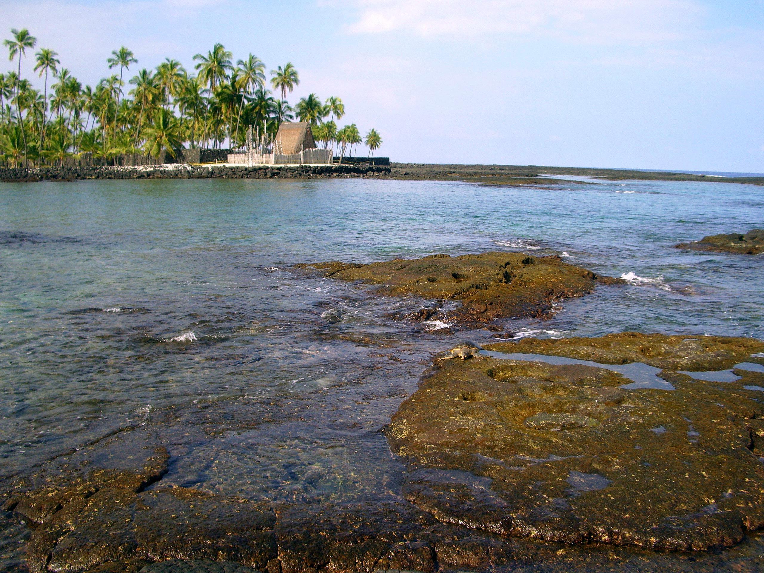 Pu'u Hounua O Hounaunau, The Place of Refuge: Photo by Donald MacGowan
