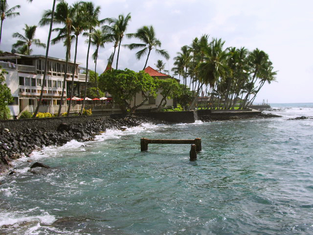 The Old Seawall Behind the Kona Inn, Kailua Kona, Hawaii: Photo by Donnie MacGowan