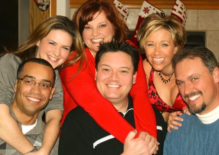 Margaret (Menzies) and Michael Gonzalez, Karen (Merstik) and Dennis Michaels, Lisa and Ron Smith