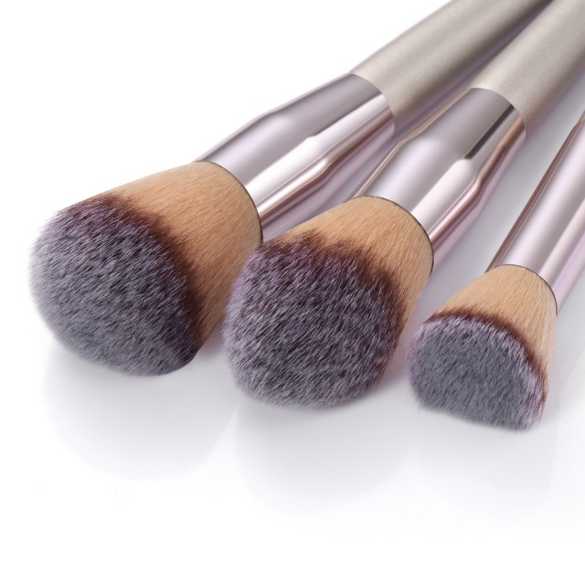 La Milee Champagne Makeup Brush Set For Foundation, Powder Blush, Eyeshadow, Concealer, Lip And  Eye Make Up