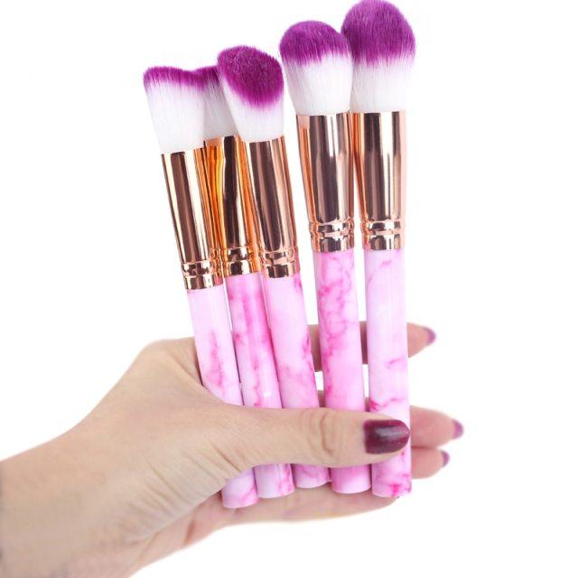 5pcs Soft Set Of Makeup Brushes