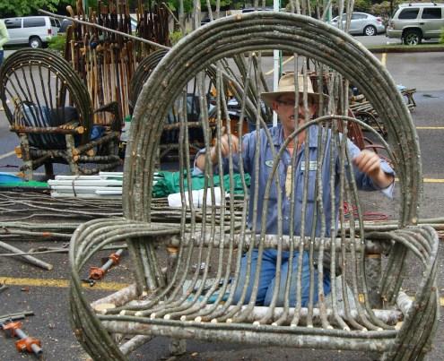 making twig furniture - the Twigmeister
