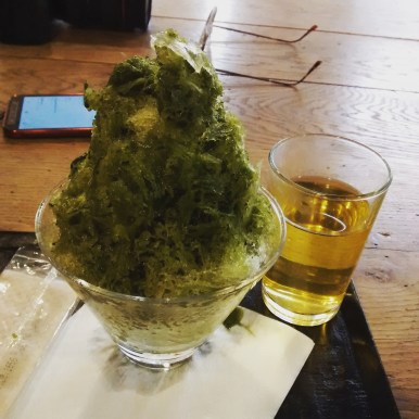 Matcha shaved ice