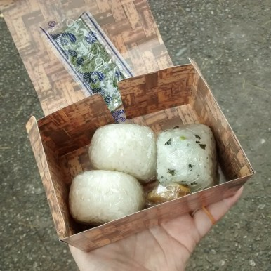 Rice balls for lunch