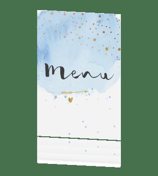 Trendy Menu Kaart Voor Bruiloft Met Waterverf En Sierletters