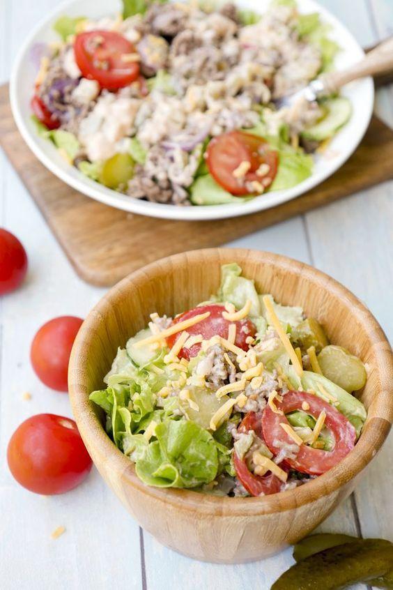 Low Carb Cheeseburger Salat